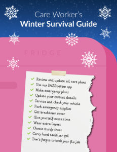Winter challenges for Care Workers - winter survival guide