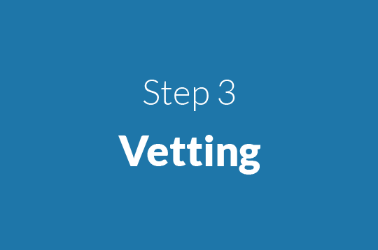 Step 3 Vetting